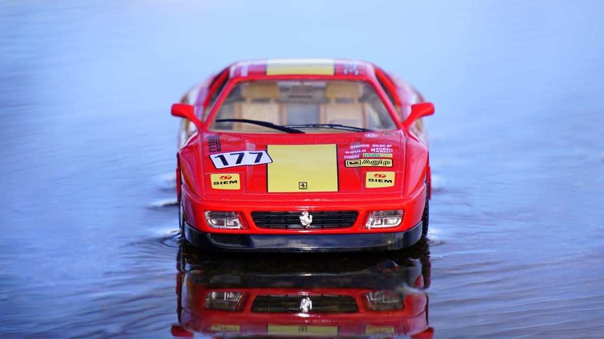 sports car toy photography