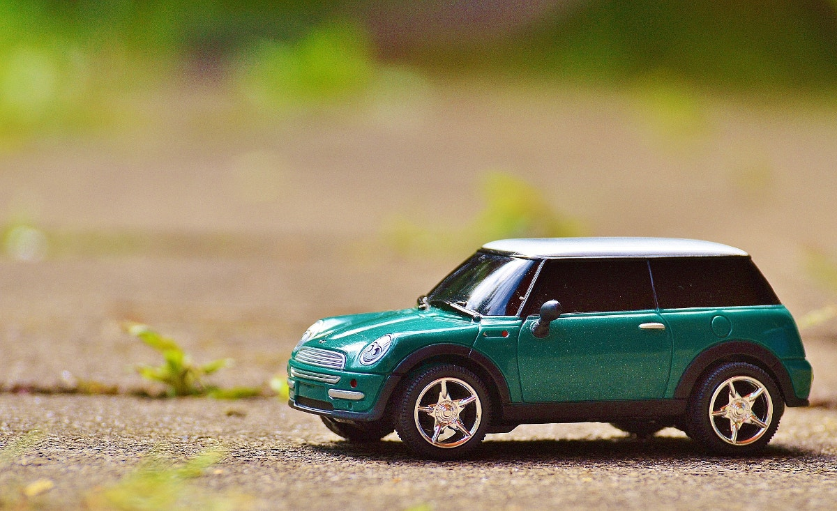 modern toy car photography