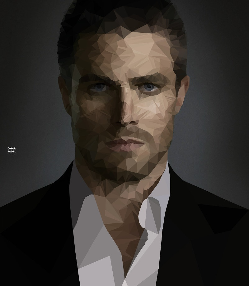 Polygonal Portrait of Stephen Amell