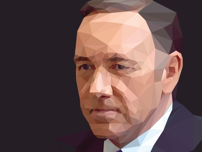 low poly screencast of frank underwood