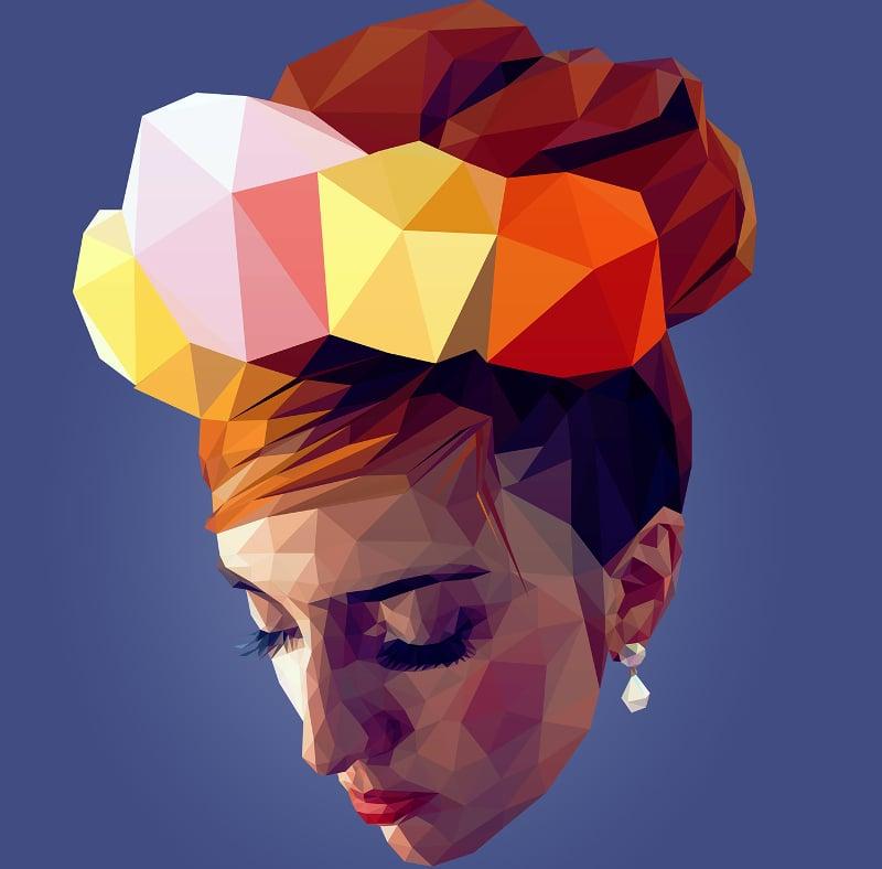 low poly portrait illustration