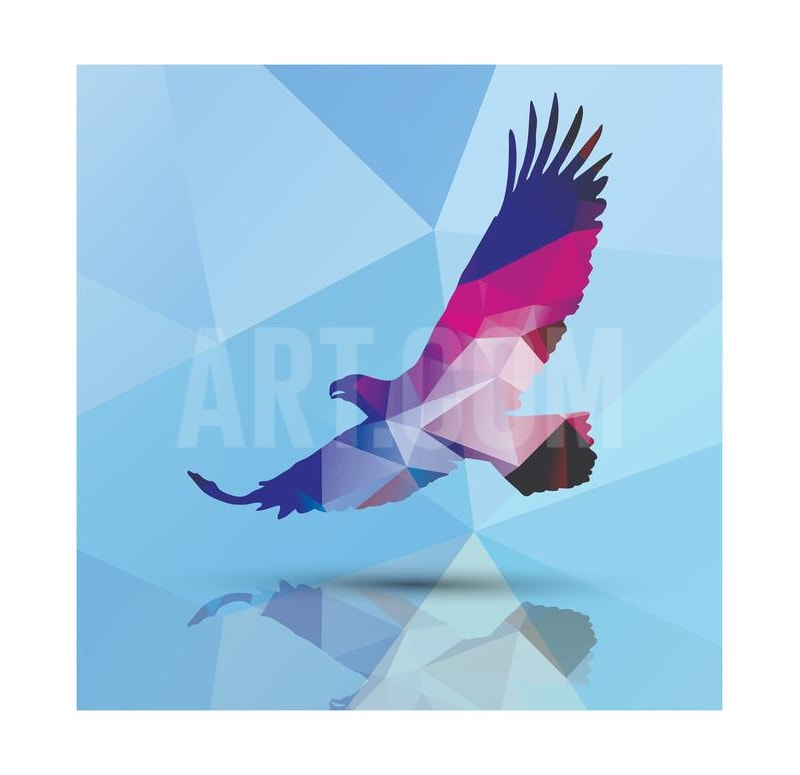 Geometric Polygonal Eagle Illustration