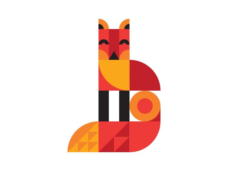 geometric illustration of animal