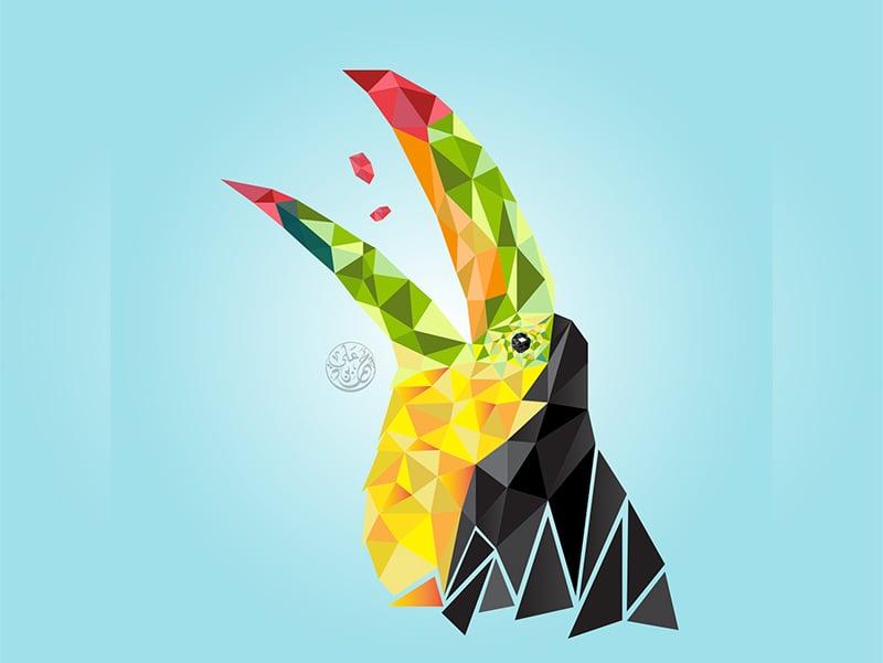 geometric bird illustration