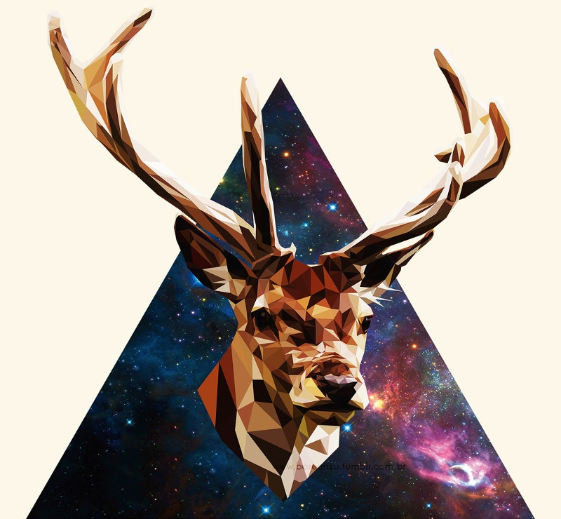 Deer Design Illustration