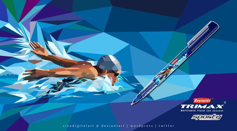 advertising geometric illustration