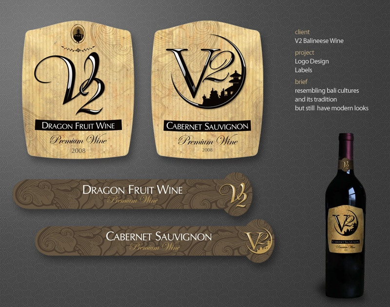 Wine Label Tags Design