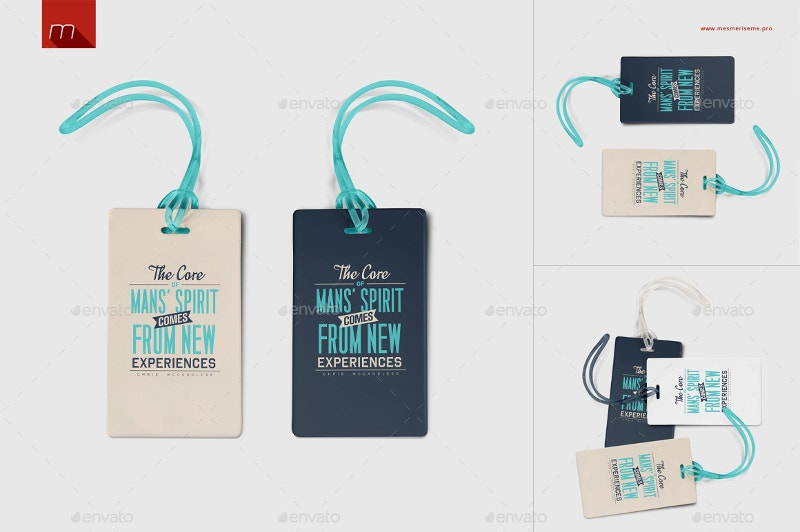 Luggage Label Tag Mockup