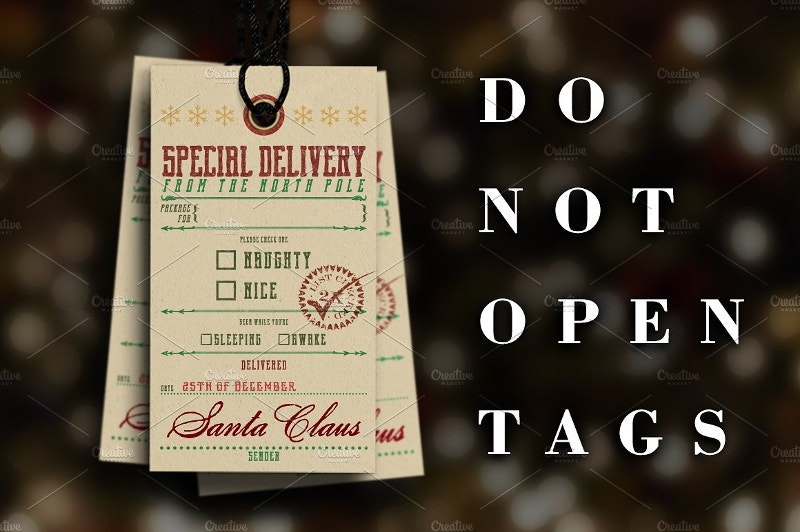 Christmas Tag for Special Delivery