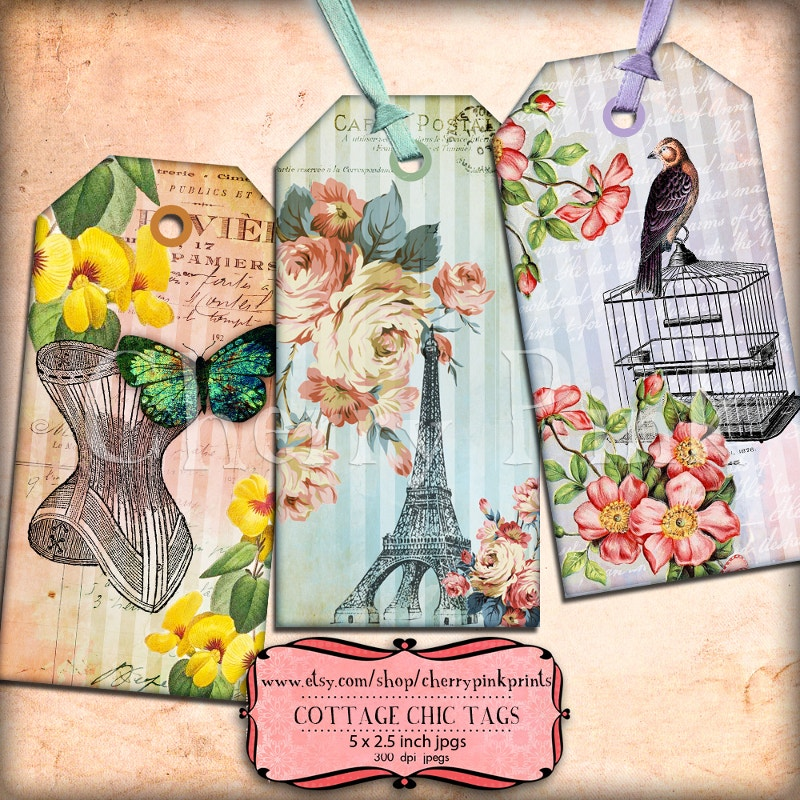 Beautiful Cottage Chic Tags