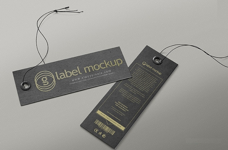 Amazing Label Tag Mockup