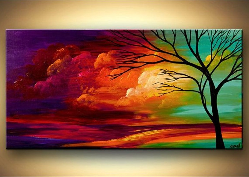 Tree paintings on canvas wine and canvas so excited to be for Oil painting templates