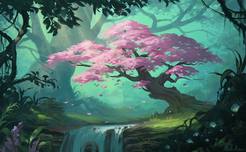 Landscape Tree Painting