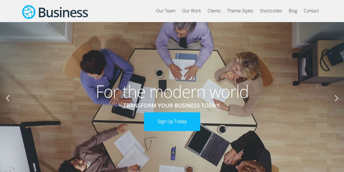 modern free business website theme