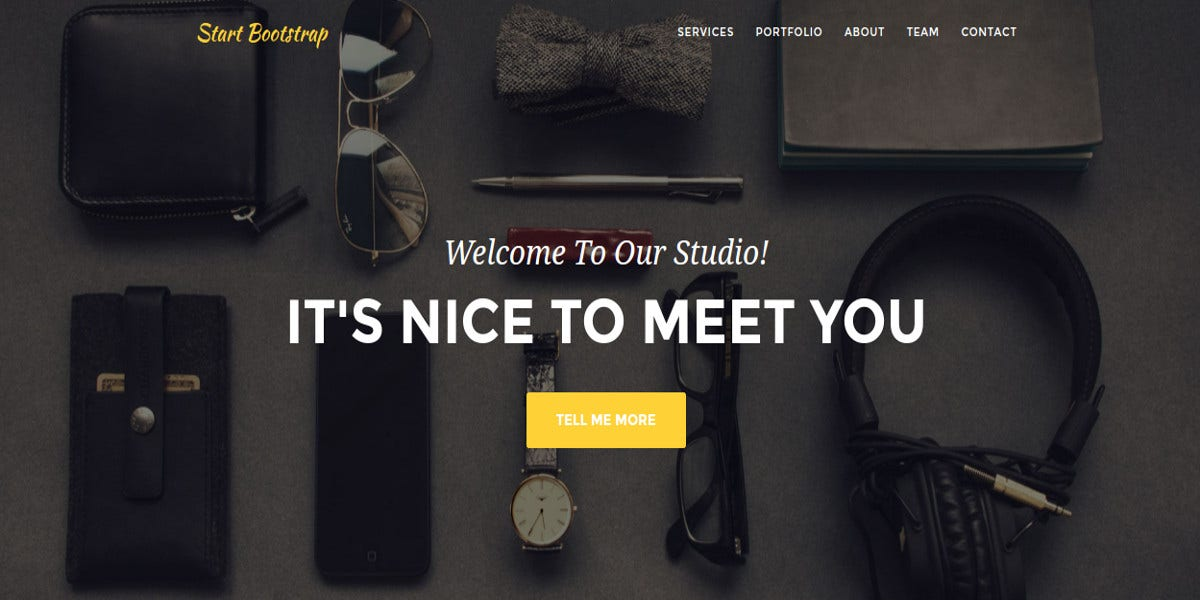 stylish bootstrap website theme for business agency