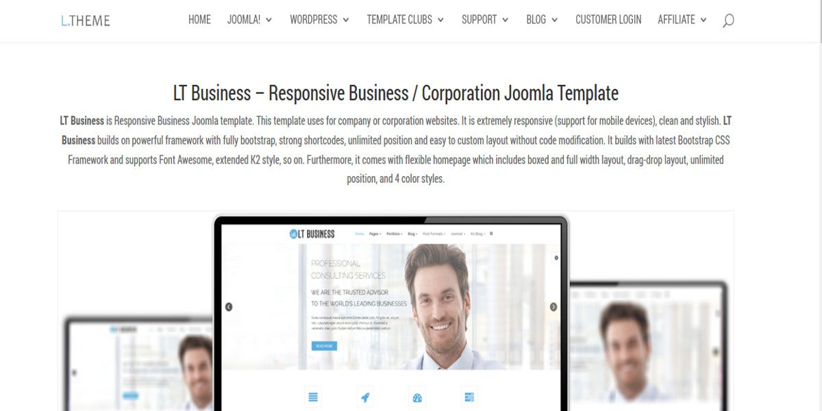 free corporation joomla website template