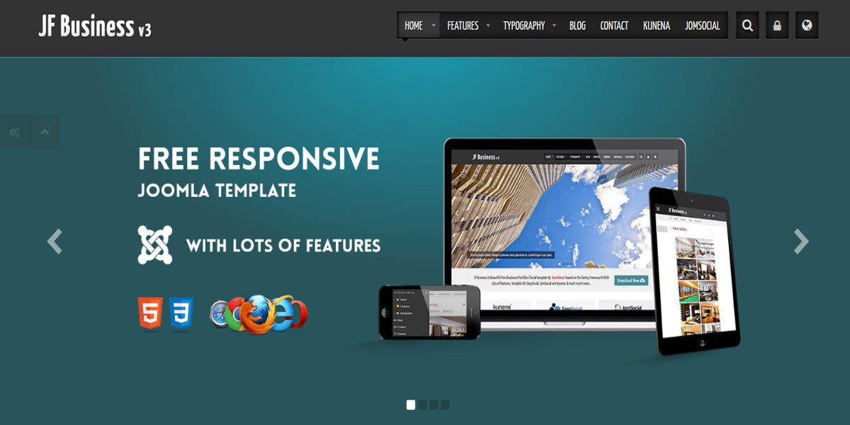 19 free business website themes templates free for Free joomla template creator software