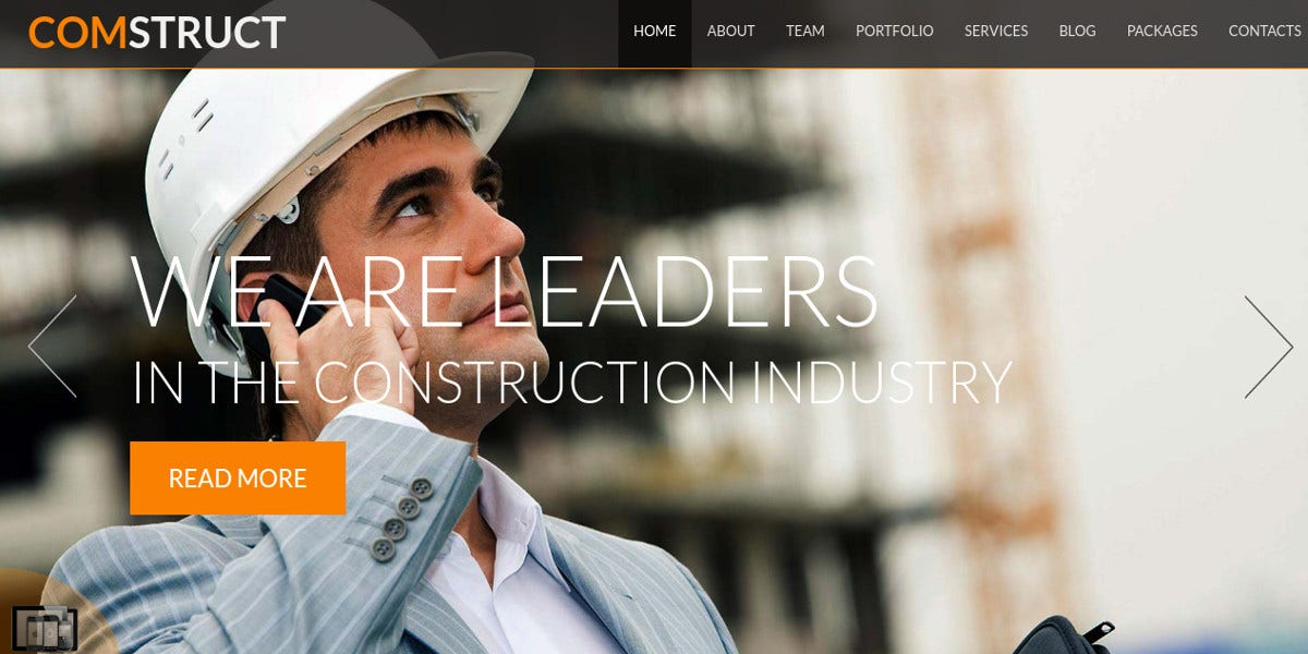 construction business free joomla website template