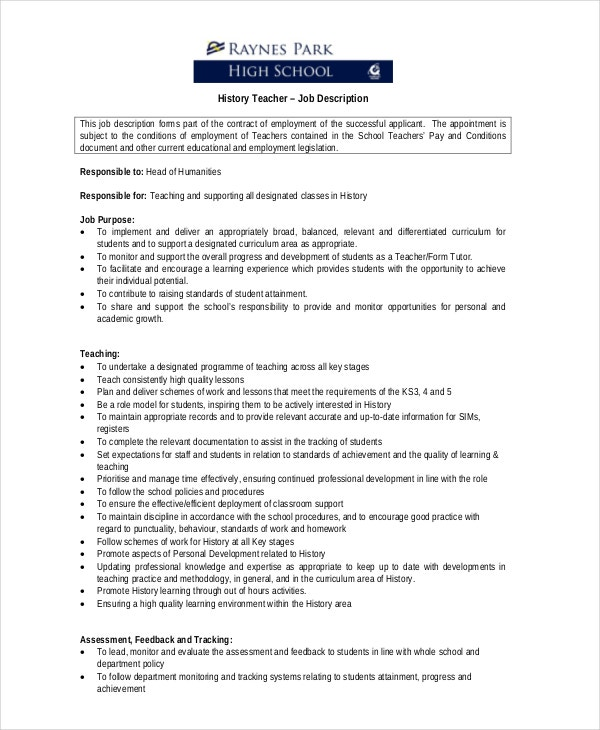 History-Teacher-Job-Description-Sample Teaching Resume Format Download on resume layout download, resume finalize download, simple resume download, resume cover letter download, resume samples to download, resume writing, resume templates, resume design, checklist download, resume pattern download, cover letter template download, job resume sample download, resume application form, document download, resume cover letter samples, resume curriculum vitae pdf, resume builder, movietube download, resume examples,