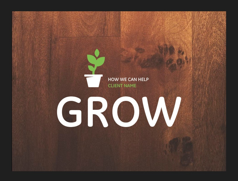Growth Themed Powerpoint Background