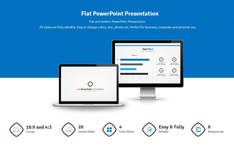 flat powerpoint presentation background