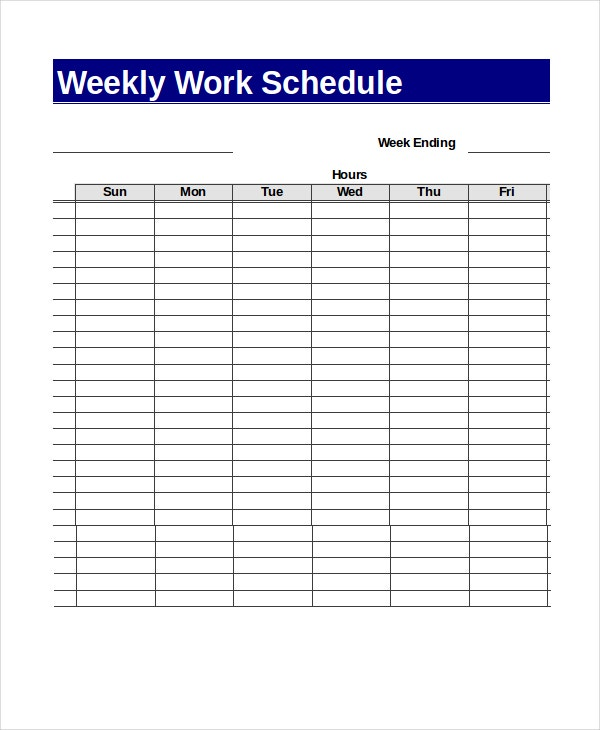 Sample Excel Schedule Templates  Free Example Format  Free