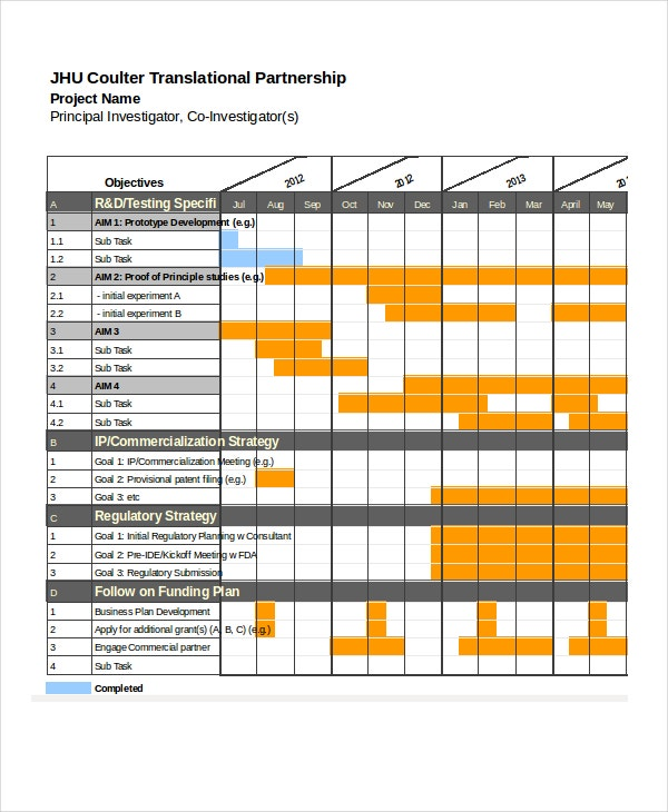 project schedule template xls - 13 sample excel schedule templates free example