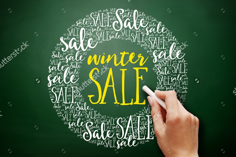 Winter Sale Chalkboard Poster