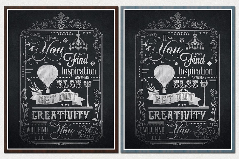 typography chalkboard poster