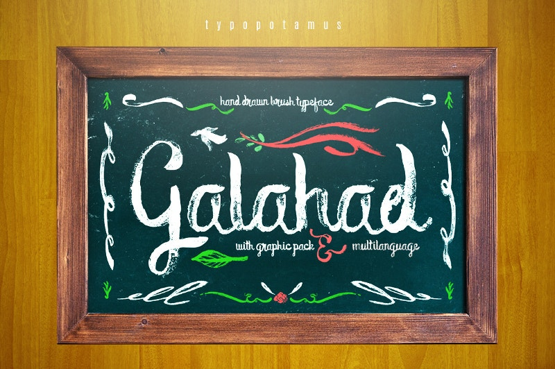 typeface chalkboard poster