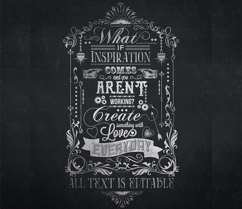 free typography chalkboard poster