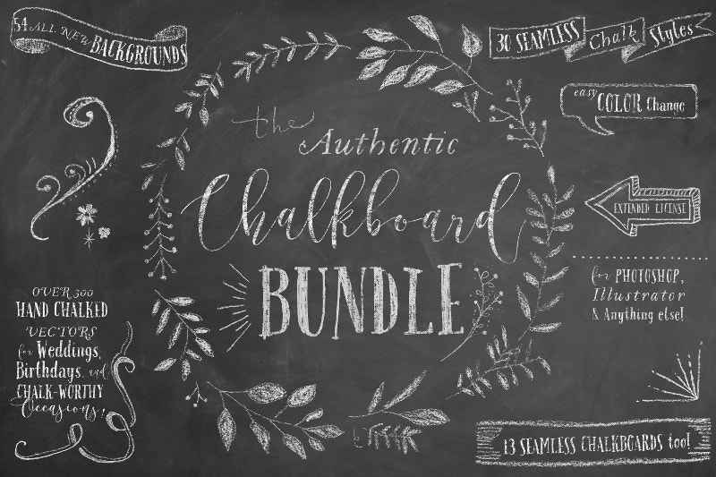 chalkboard poster bundle