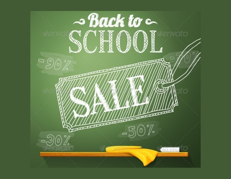 back to school chalkboard poster