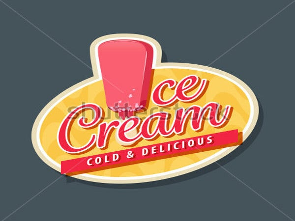 cold ice cream logo template