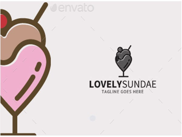 lovely ice cream logo template1