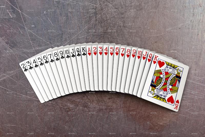 showcase playing cards mock up
