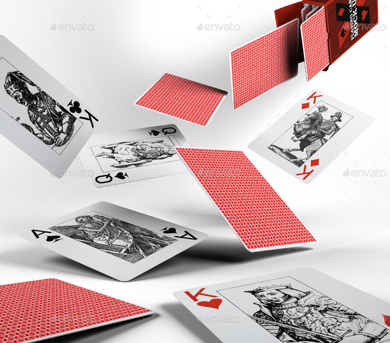 Playing Cards Box Mock-Up