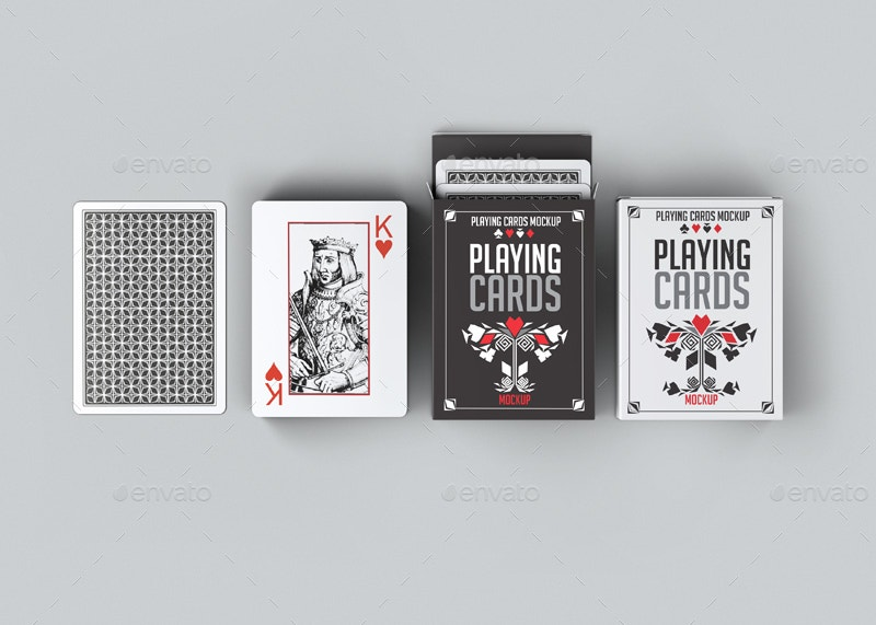 Display Playing Cards Mock-Up
