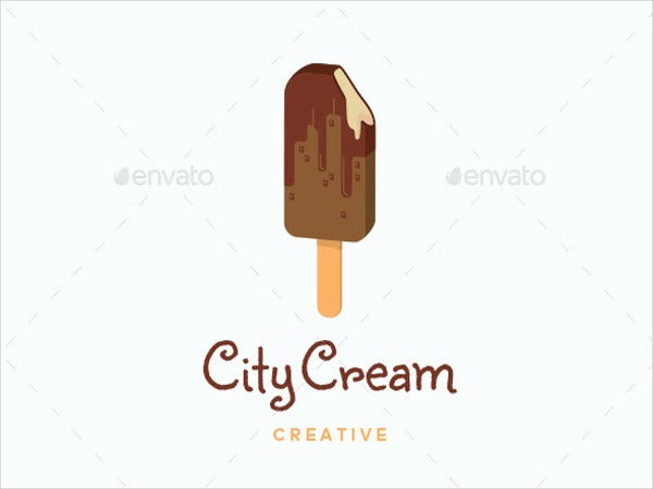 stick ice cream logo template