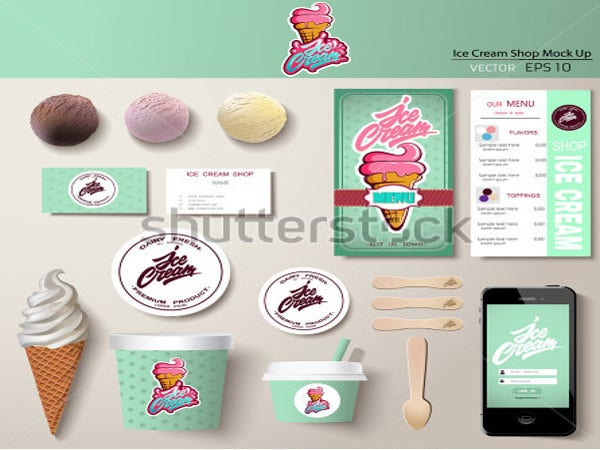 variety ice cream logo template