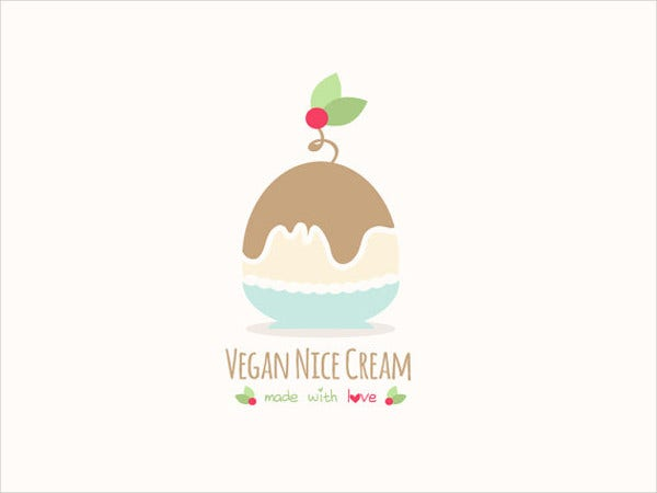 nice ice cream logo template