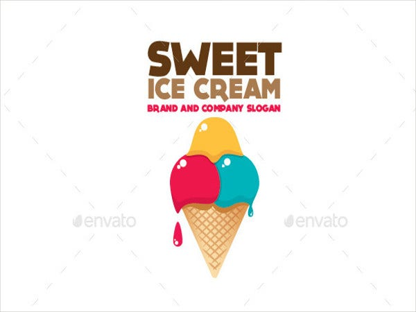 cone ice cream logo template1