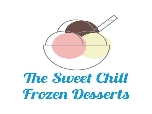 cute ice cream logo template