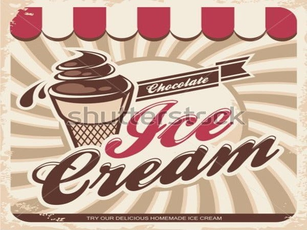 dessert ice cream logo template