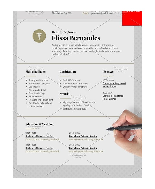 Nurse Resume Templates PDF DOC Free Premium Templates - Registered nurse resume template free