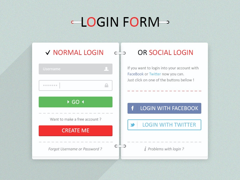 Web Form with Buttons