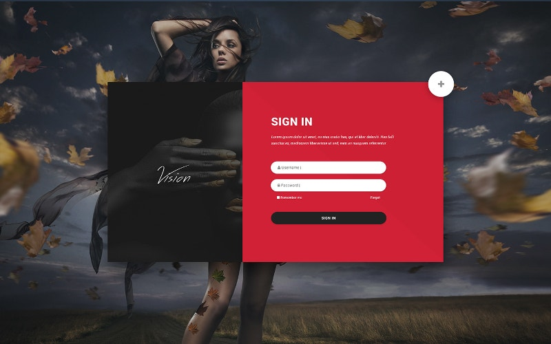 PSD Web Form Free Download
