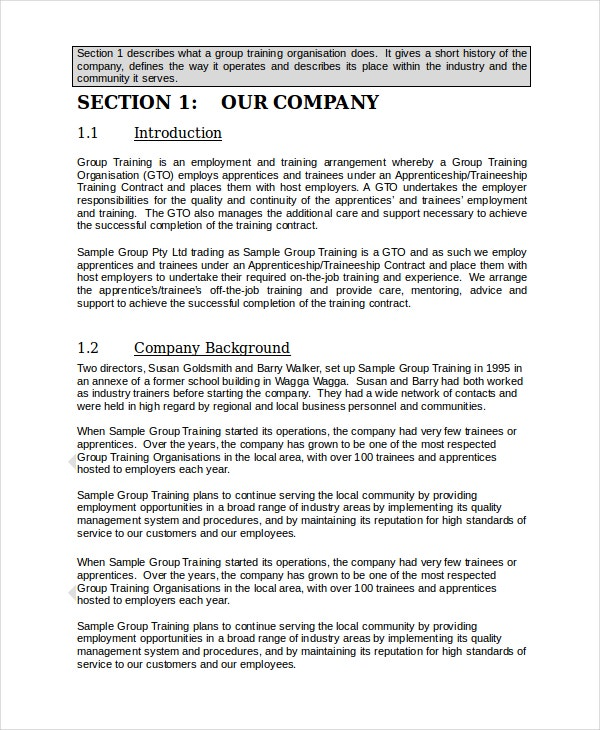 small company training manual template