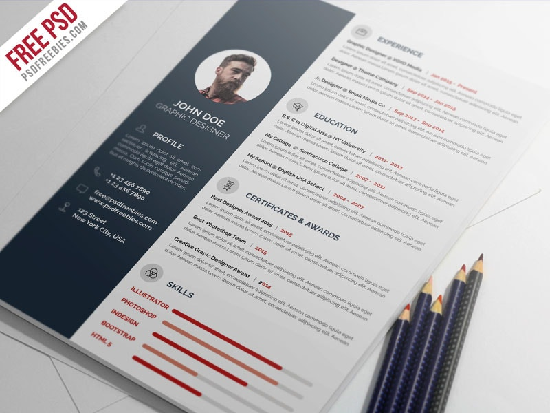 psd resume templates 60 free graphic designs of december 2016 free amp premium 24164