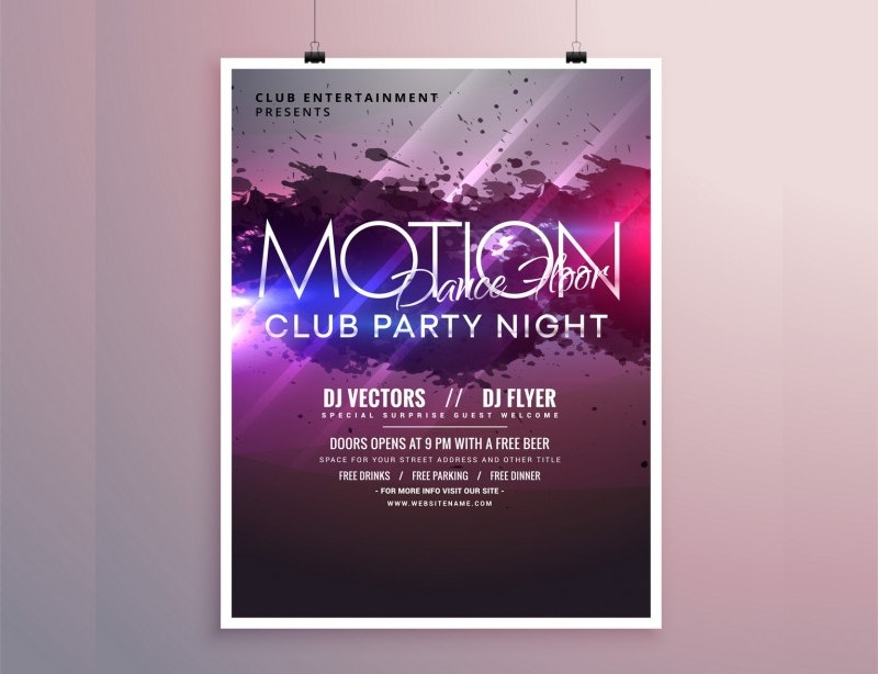 Free Bright abstract party poster